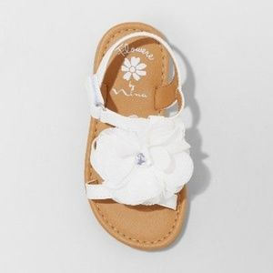 Flowers by Nina Shoes - Toddler Girls' Annabel Floral Ankle Strap Sandals